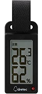 ドリテック(dretec) 温度計 ブラック 3×6.4×1.4cm ポータブル 温湿度計 O-289BK