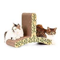 LSS 猫スクラッチボード、猫クライミングフレーム、T字型波形紙爪おもちゃペット用品