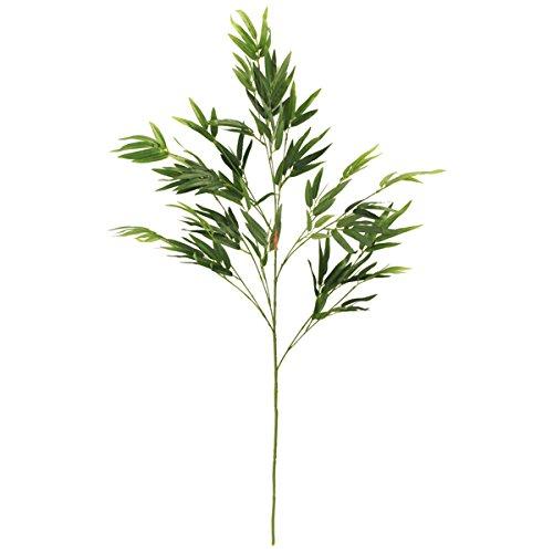 山久 七夕飾り お盆に 手入れ簡単 笹竹 中サイズ 約90cm CT触媒加工 造花 シルクフラワー