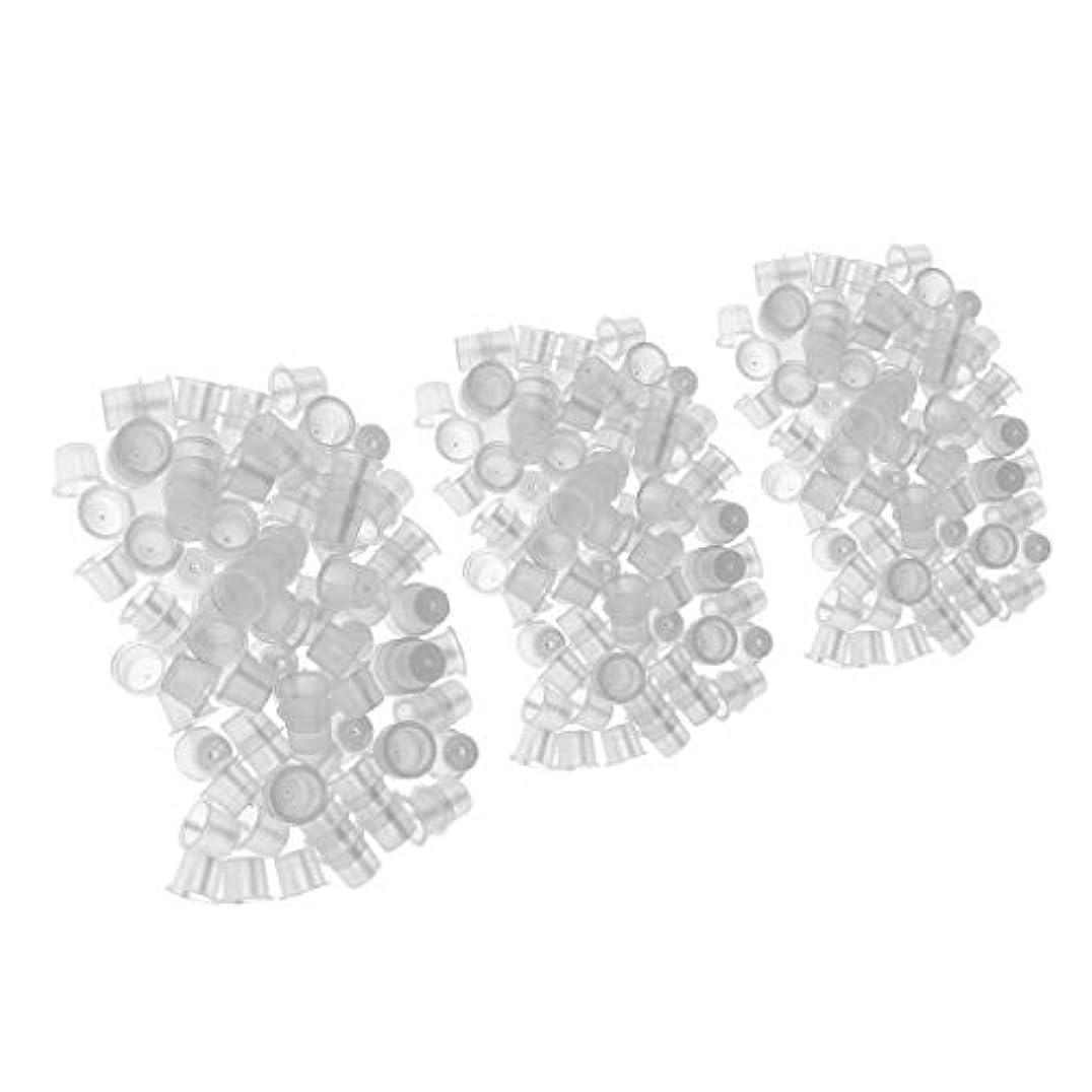 どうやってジレンマ繁雑CUTICATE クリアタトゥーインクキャップコンテナー混合サイズホルダーカップマイクロブレード用品