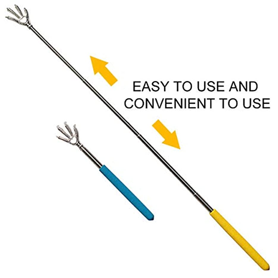 Ultimate Portable Creative Massage Eagle Claw Telescopic Stainless Steel Back Scratcher Extendable Massager