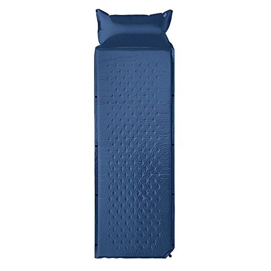 ペルソナ文明化生きるエアーマット キャンピングマット 自動膨張式 1人用キャンプマット 折り畳み 枕付き 防水 コンパクト 連結可能 昼寝マット