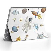 Surface go 専用スキンシール サーフェス go ノートブック ノートパソコン カバー ケース フィルム ステッカー アクセサリー 保護 宇宙 UFO スペース 013608