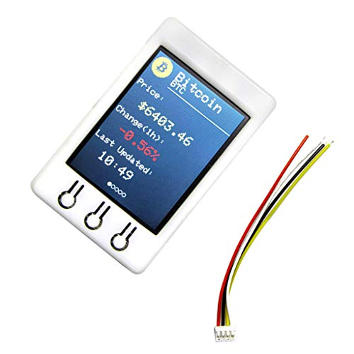 KESOTO BTCティッカーESP32モジュール Arduino対応 2.2インチ320 * 240ビットコイン価格ティッカー 過電流保護