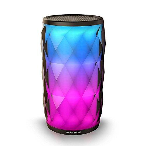 ポータブル Bluetooth4.2 スピーカー LEDカラフルなスピーカー【6パターンLED/8パターン変光モード / 内蔵マイク / 高音質】AUXオーディオケーブル有線再生 ワイヤレス再生 日本語取扱説明書付き