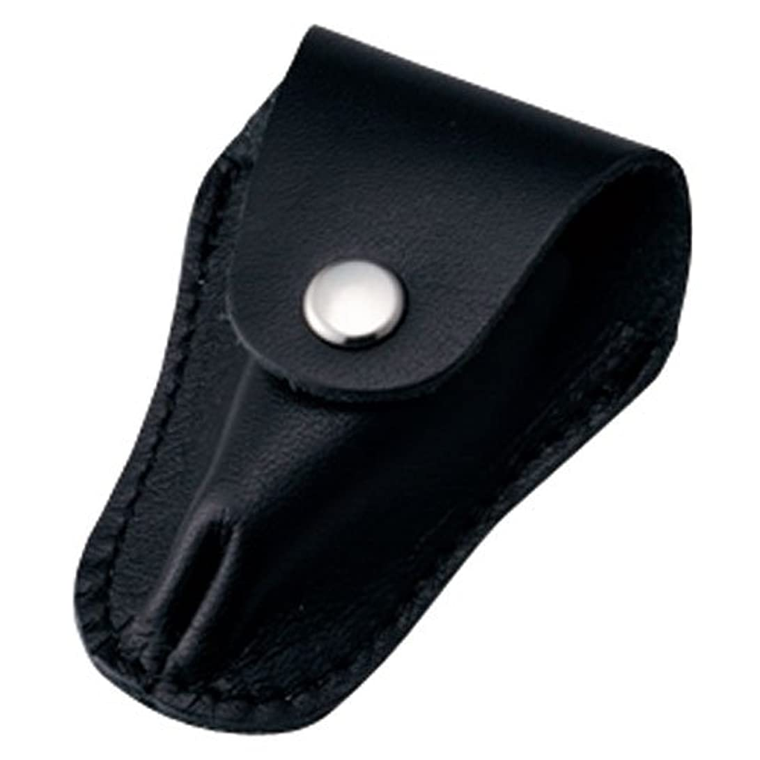 スリーブ司教フラップ内海 ニッパーキャップL ブラック 本革製のキューティクルニッパー用刃先カバー