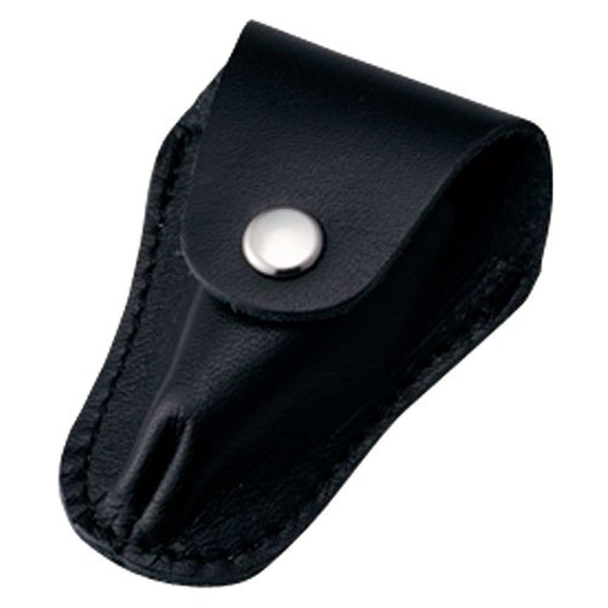 所得着る短くする内海 ニッパーキャップL ブラック 本革製のキューティクルニッパー用刃先カバー