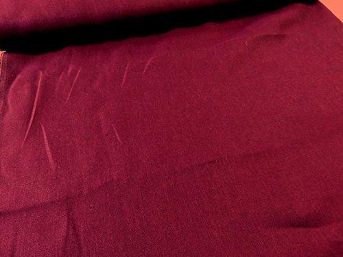 ワイド巾カラーリネン無地 ワインレッド  |W巾|広巾|生地...