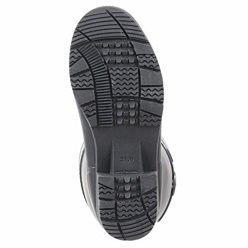(ヒロミチナカノ) hiromichi nakano HN WJ130R レディース ロング レインブーツ 長靴 (21.0cm, ブラック)
