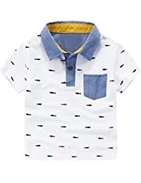 Ochine 子供シャツ 男の子 襟付き ポロシャツ キッズ 半袖 春夏 綿 トップス 通園 可愛い カジュアル 子供服 ボーイズ ゆったり 着心地がいい