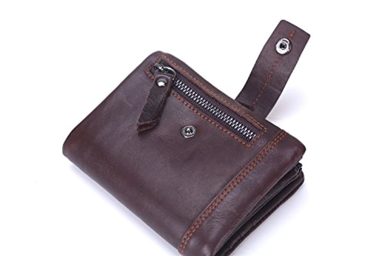 財布 メンズウォレット 三つ折り財布 多機能財布 レザー