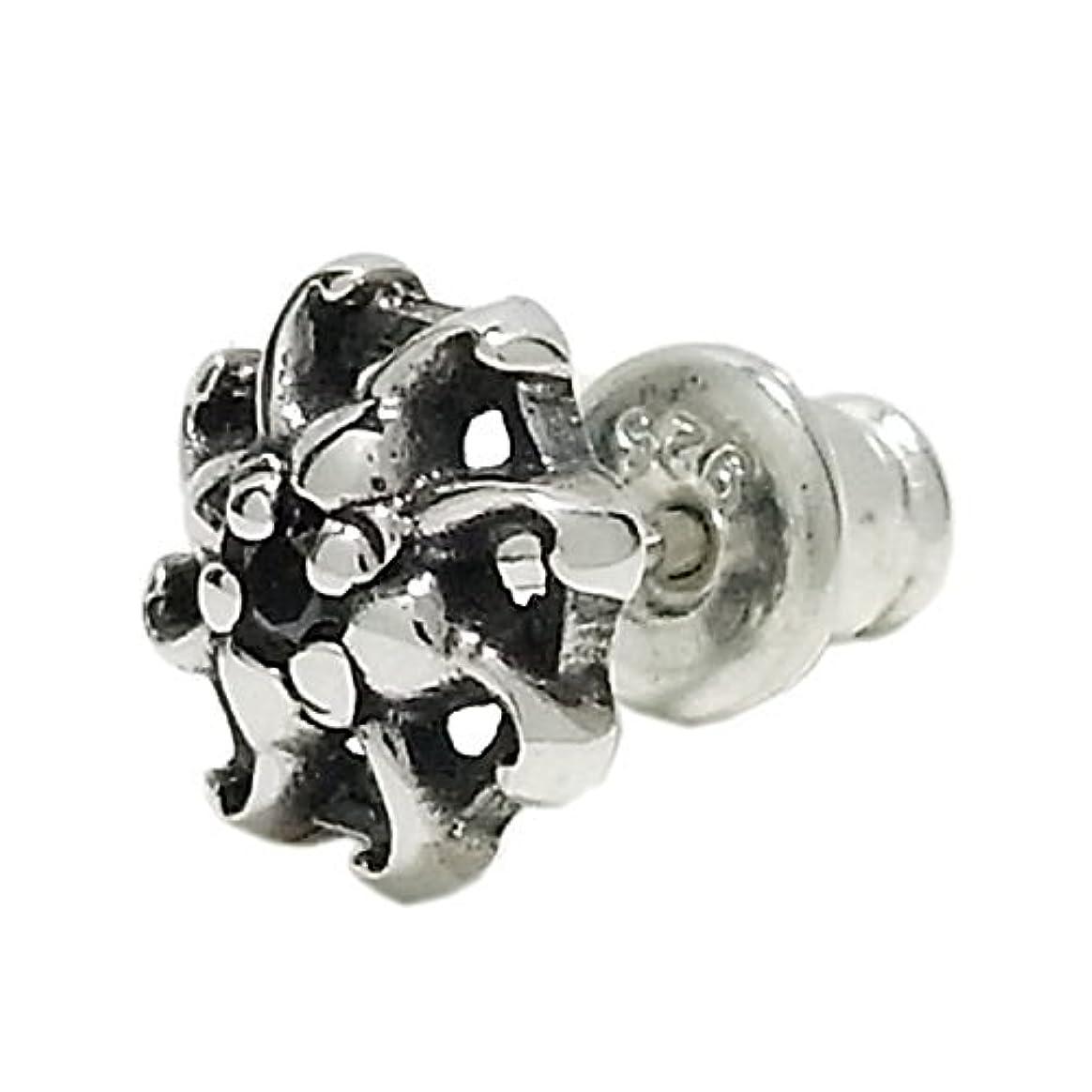 強度信頼できる記憶新宿銀の蔵 ブラックジルコニア ハリケーン シルバーピアス (1P) メンズ ハード 人気 メンズ
