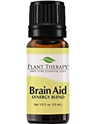 脳援助シナジー(精神的な焦点と明確にするため)。エッセンシャルオイルブレンド。 10ミリリットル(1/3オンス)。 100%ピュア、希釈していない、治療グレード。