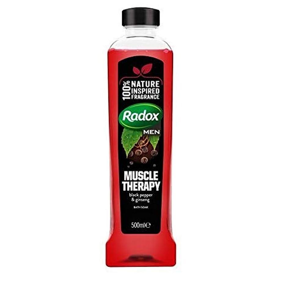 疎外する番号用心する[Radox] Radoxは、500ミリリットルのソーク良い香り筋肉の治療風呂を感じます - Radox Feel Good Fragrance Muscle Therapy Bath Soak 500ml [並行輸入品]
