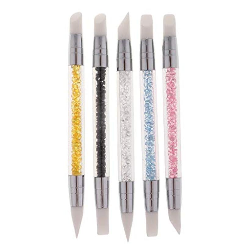 プラスチックライトニング隔離するネイルブラシ ネイルペン 彫刻ブラシ ネイルアート マニキュアツール プロ 家庭用 5本セット