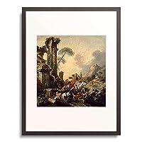 フランソワ・ブーシェ 「Rast am Brunnen. Lwd, 239 x 232 cm.」 額装アート作品