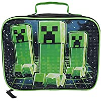 Minecraft Creeper Kids Lunch Box School Food Container Various Styles & Colours (One Size)