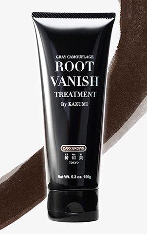 ROOT VANISH ヘアカラートリートメント|ダークブラウン (髪と頭皮に優しい白髪染め・22種類の植物エキス配合)