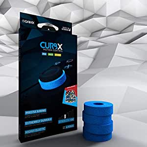 GAIMX CURBX エイムリング モーションコントロール 野良連合限定モデル(リングは青色 硬さは#130) PS4 switch Proコントローラー xbox one SCUF PCパッドに使用可 国内正規品