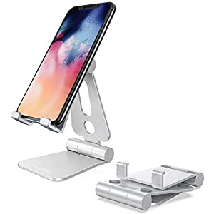 Lomicall 折り畳み式 スマホ スタンド ホルダー 角度調整可能, 携帯電話卓上スタンド : 充電スタンド, foldable phone stand, アイフォンデスク置き台, Nintendo Switch 対応, アイフォン, アンドロイド, iPhone XS XS Max XR X 8 plus 7 7plus 6 6s 6plus 5 5s, Sony Xperia, Nexus, androidに対応