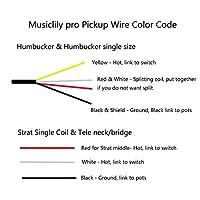 Musiclily Pro ギターストラトミドル用 シングルコイルピックアップ、カラフルなカバー