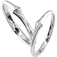 [エテリーユ] プラチナ Pt900 地金 カップル 2個セット 刻印 スレンダー シンプル 細身 ペアリング 指輪 リング