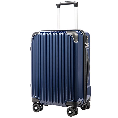 [クールライフ] COOLIFE スーツケース キャリーバッグダブルキャスター 一年安心保証 機内持...