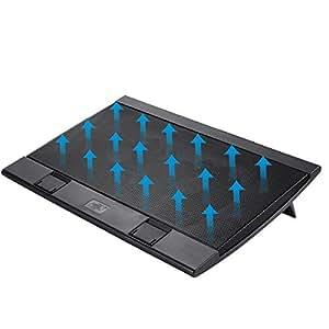 ノートクーラー 冷却台 パッド ノートPC用クーラー DEEPCOOL WIND PAL FS USB電源 静音 大型 140mmデュアルファン採用 無段階風量調節 17インチ型まで対応 デジ工房