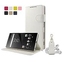 【HANATORA】 Xperia Z5 Premium (SO-03H) ケース PUレザー手帳型ケース ホワイト