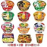 一平ちゃん/マルちゃん/サッポロ一番の人気カップ麺12種類×各2個 合計24個