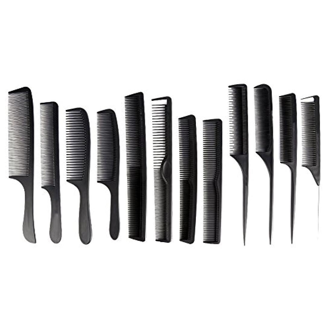 強い不和尊敬するカットコーム 散髪用コーム コームセット12点セット プロ用ヘアコーム  静電気減少 軽量 サロン/美容室/床屋など適用