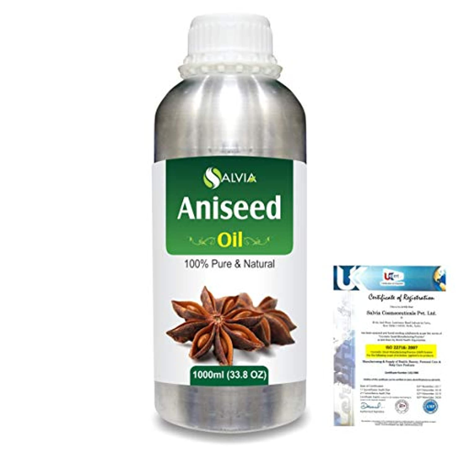 柔らかさ偉業消費Aniseed (Pimpinella anisum) 100% Natural Pure Essential Oil 1000ml/33.8fl.oz.