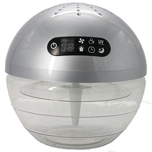 アロマ 対応 LEDライト 点灯 UV搭載 空気洗浄器 Dr.Airball シルバー K30
