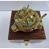 3インチ 真鍮製日時計コンパス