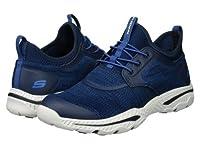 SKECHERS(スケッチャーズ) メンズ 男性用 シューズ 靴 スニーカー 運動靴 Relaxed Fit Creston - Argest - Navy 8.5 D - Medium [並行輸入品]