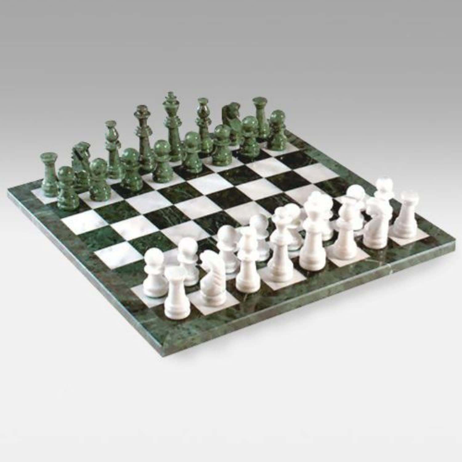 Lustrous Marble Chess Set - 4.5 in. King