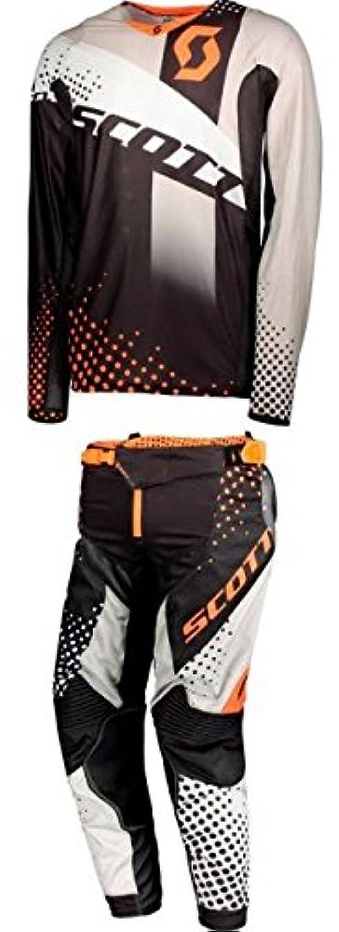 博覧会不毛受動的Scott スコット 450 S18 Angled Jersey 2018モデル オフロード ジャージ&パンツ 上下セット オレンジ/ブラック S-28(71cm)
