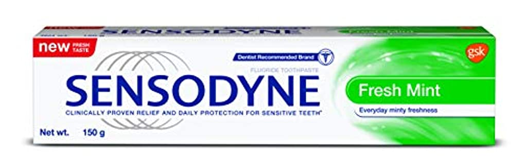 重なる命令運河Sensodyne Sensitive Toothpaste Fresh Mint -130gm