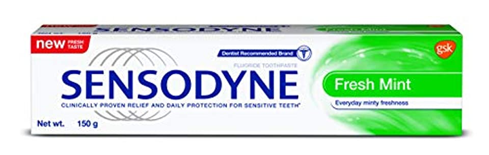 過ちスティック太字Sensodyne Sensitive Toothpaste Fresh Mint -130gm