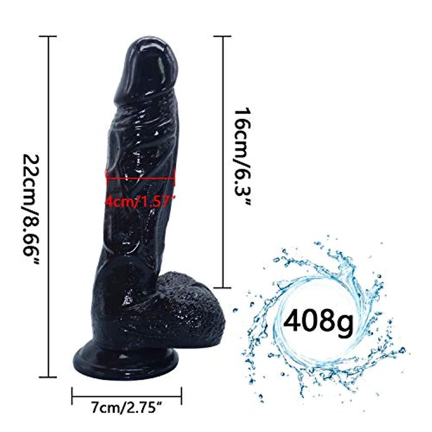 美容師放映優越ChenXiDian 8.86インチの巨大な親密な初心者現実的な防水黒肉滑らかなテクスチャシャフト????????????ラバーソロプレイBackdoorMassager Veinedスティック柔軟な浸透-抗菌、より優れた...