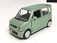 SUZUKI スズキ 1/42 ワゴン R RR ブリージンググリーンメタリック ディーラー カラーサンプル プルバックカー