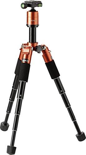RolleiコンパクトトラベラーMini m1–軽量旅行三脚ボールヘッド本のノンスリップ発泡、旅行、アウトドア活動–オレンジ