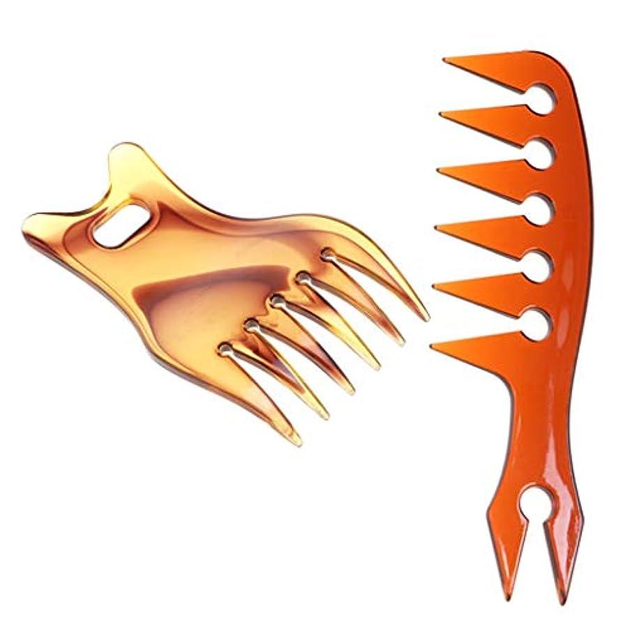 海外でグレートバリアリーフ支配的広い歯 ヘアコーム 髪 もつれ防ぐ ワイドトゥース 帯電防止 耐熱 オイリーヘアコーム