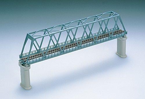 Nゲージストラクチャー 単線トラス形鉄橋 (F) 青 (PC橋脚・2本付) 3030