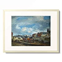 William Turner de Lond 「Limerick: Charlotte Quay and George's Quay, Matthew Bridge and the Customs House, with the Tower of St. Mary's Cathedral.」 額装アート作品