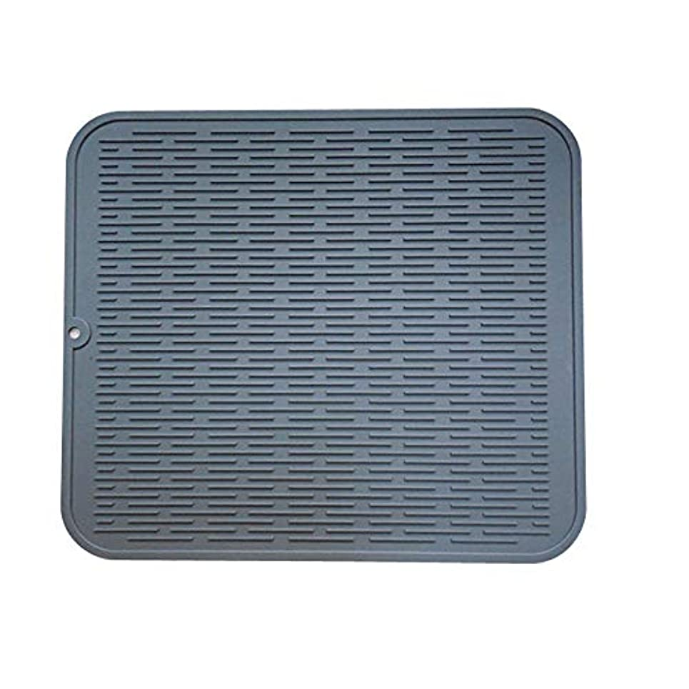 シミュレートするモーテルスリッパ大シリコーンテーブルクロス、高品質の耐熱性ドライパッド食器洗い機パッド食器40x50cm,グレー