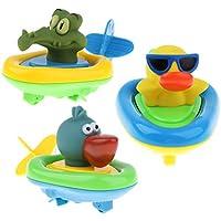 KESOTO プラスチック製 子ども 赤ちゃん 動物モデル お風呂 プール 動物おもちゃ 全3点