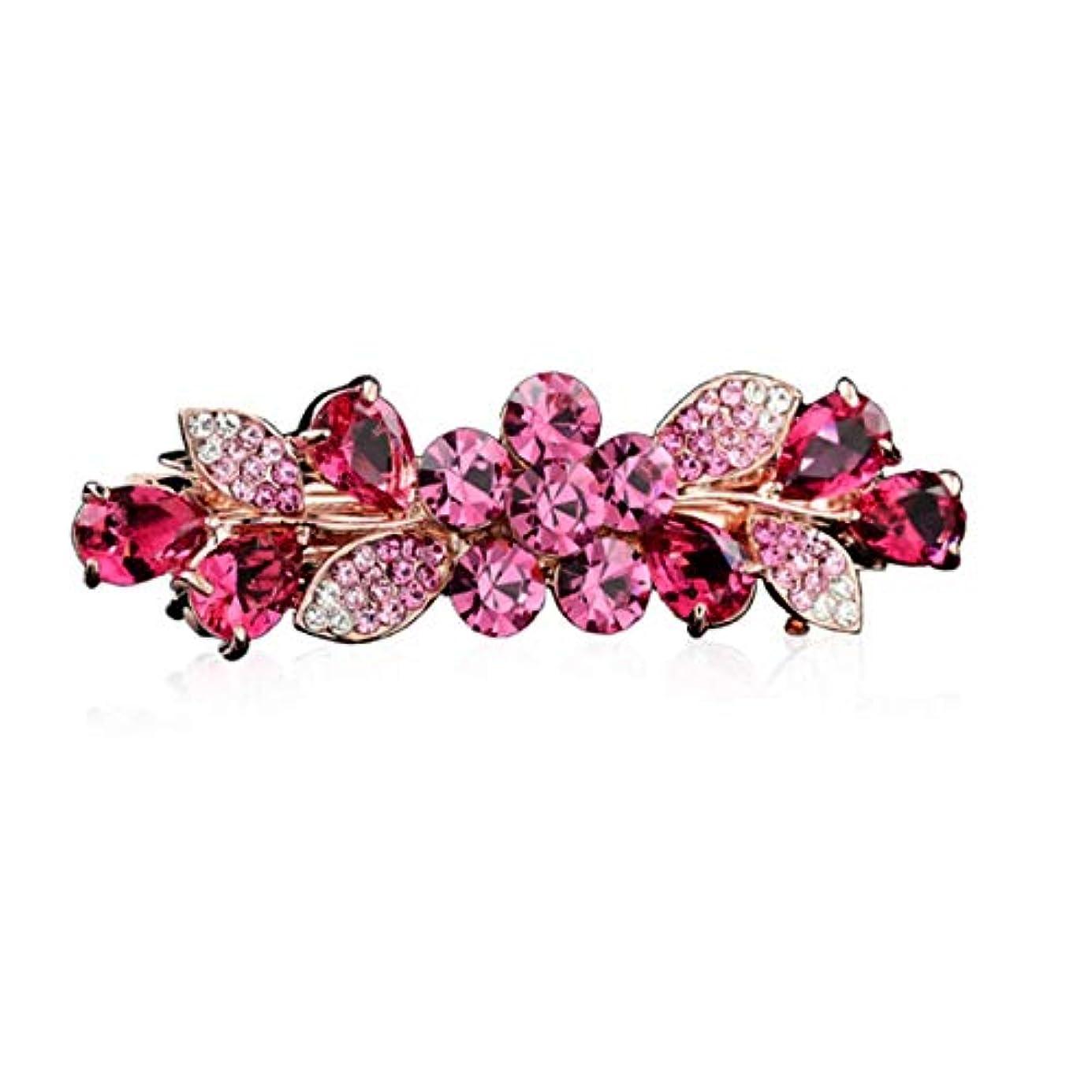 保護するコンテンツ柔らかいヘアクリップ、ヘアピン、ヘアグリップ、ヘアグリップ、大人用装身具ヘアピンヘアピンミディアムスプリングクリップクリップトップクリップ帽子エレガントなヘアアクセサリーパープル、ピンク、ゴールド (Color : Pink,...