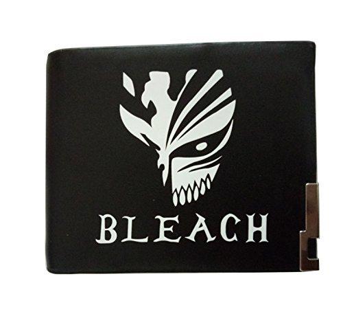 Bleach ichgoマスクアニメコスプレユニセックス学生メンズショートパターン財布ウォレットブラック