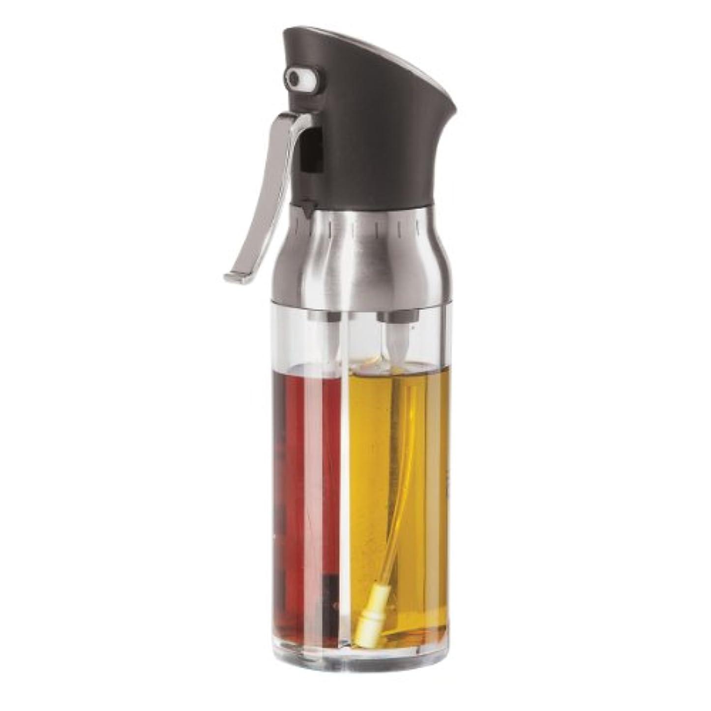 胚シロクマ公平なOggi 6004 Mix and Mist Combination Oil and Vinegar Spray Bottle